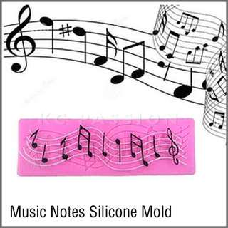🎼 MUSIC NOTES SILICONE MOLD