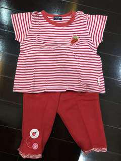 Strawberry top and legging size 12m