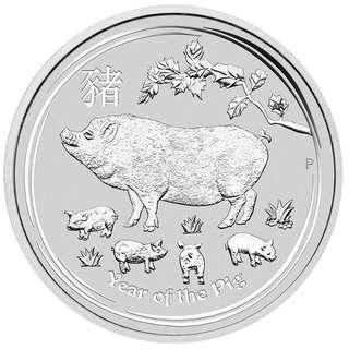 2019 澳洲農曆生肖系列 II - 豬年 .9999銀幣 1 oz (連保護圓盒)
