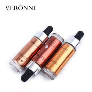 VERRONI Liquid Highlighter Brighten Shimmer Shiny Face Illuminator Glow Anti Air