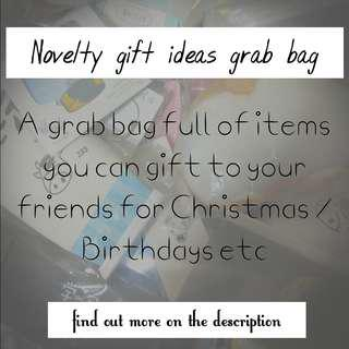 Novelty gifts grab bag
