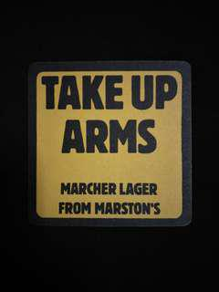 🚚 Marcher Lager Beer Coaster/Mat🍻