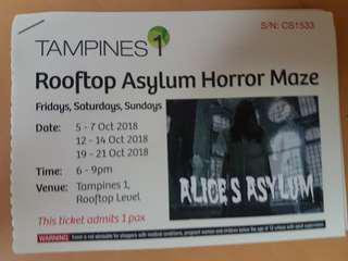 Horror Maze ticket