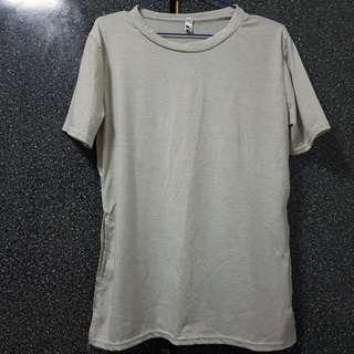 Grey Slit Top
