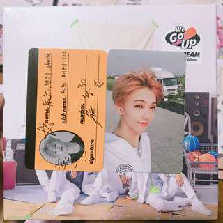 NCT DREAM WE GO UP Unsealed album With Photocard+Crewcard