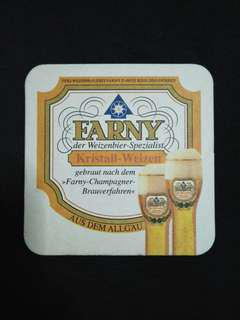 🚚 Farny Edelweiss Beer Mat/Coaster🍻