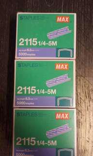 Max 2115-1/4-5M (B8) 書釘(5,000枚/盒)