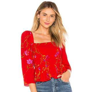 Revolve Lovers + Friends Faye Top in September Floral - Size Small