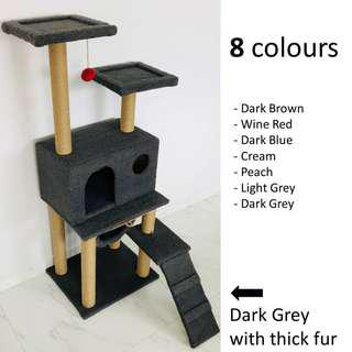 Cat Condo (8 colours) tree scratch post kitten climb play toy pole, not cage carrier bag cushion bed