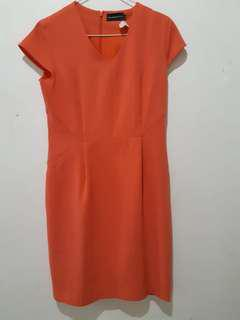 The Executive Orange Dress