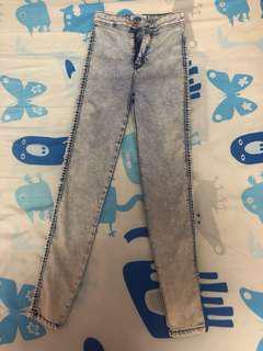 Bershka acid wash denim skinny jeans #under90
