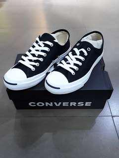 [BN] US6 Converse Jack Purcell Black Canvas White