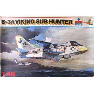 BNIB ESCI 1/48 S-3A Viking 'Sub Hunter' + many aftermarket extras