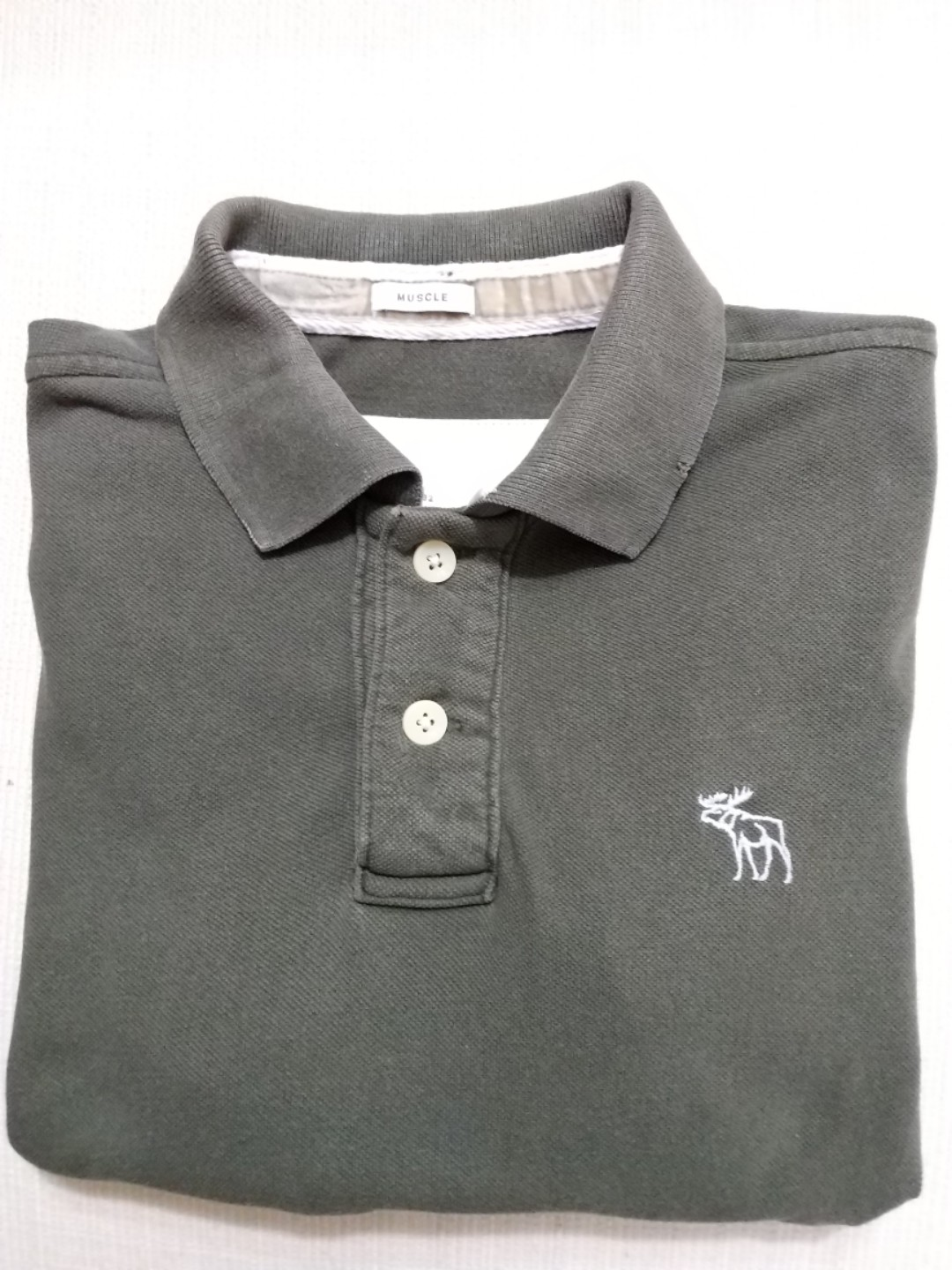 801224c9c 💯% Authentic Abercrombie & Fitch Polo tee (Muscle), Men's Fashion ...