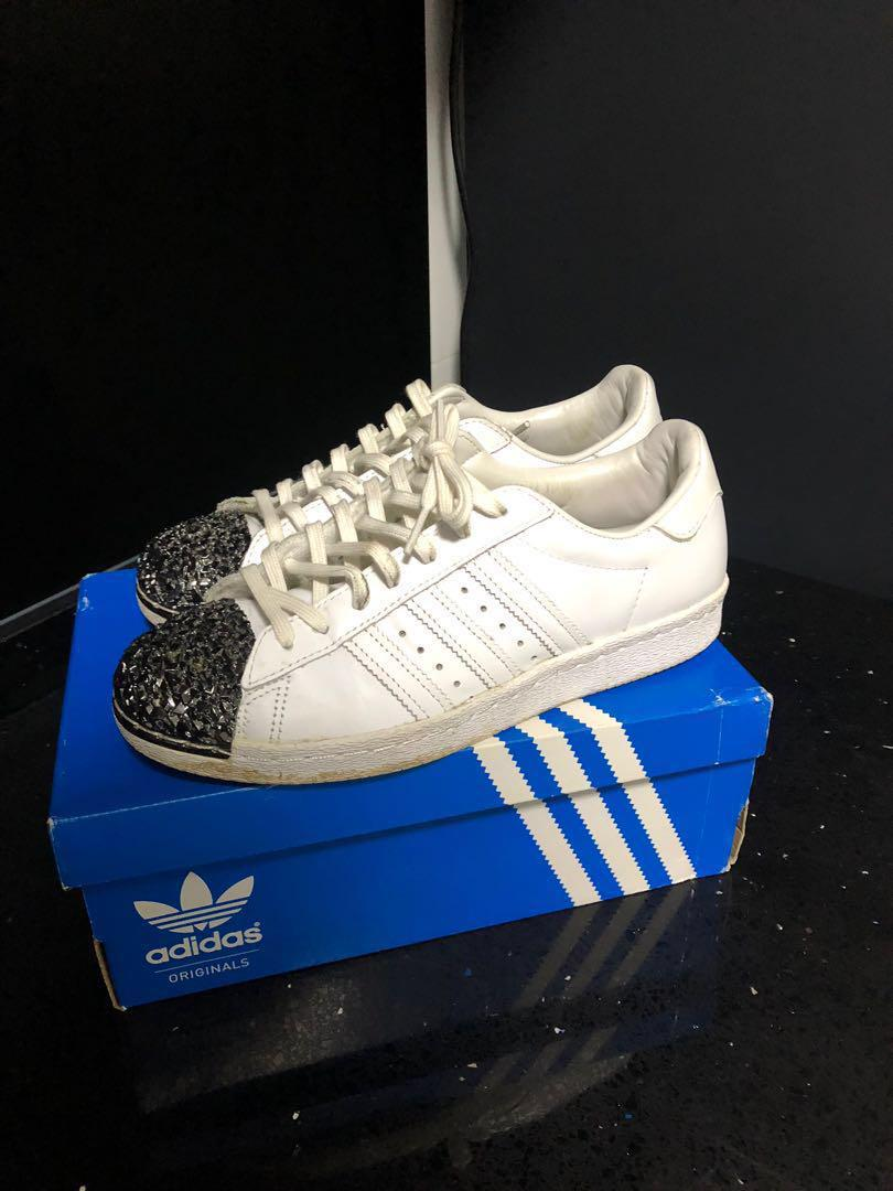 Colapso Martin Luther King Junior Polvo  Adidas Superstar 80s Metal Toe US 7.5 UK 6 EUR 39 1/3, Women's Fashion,  Shoes, Sneakers on Carousell