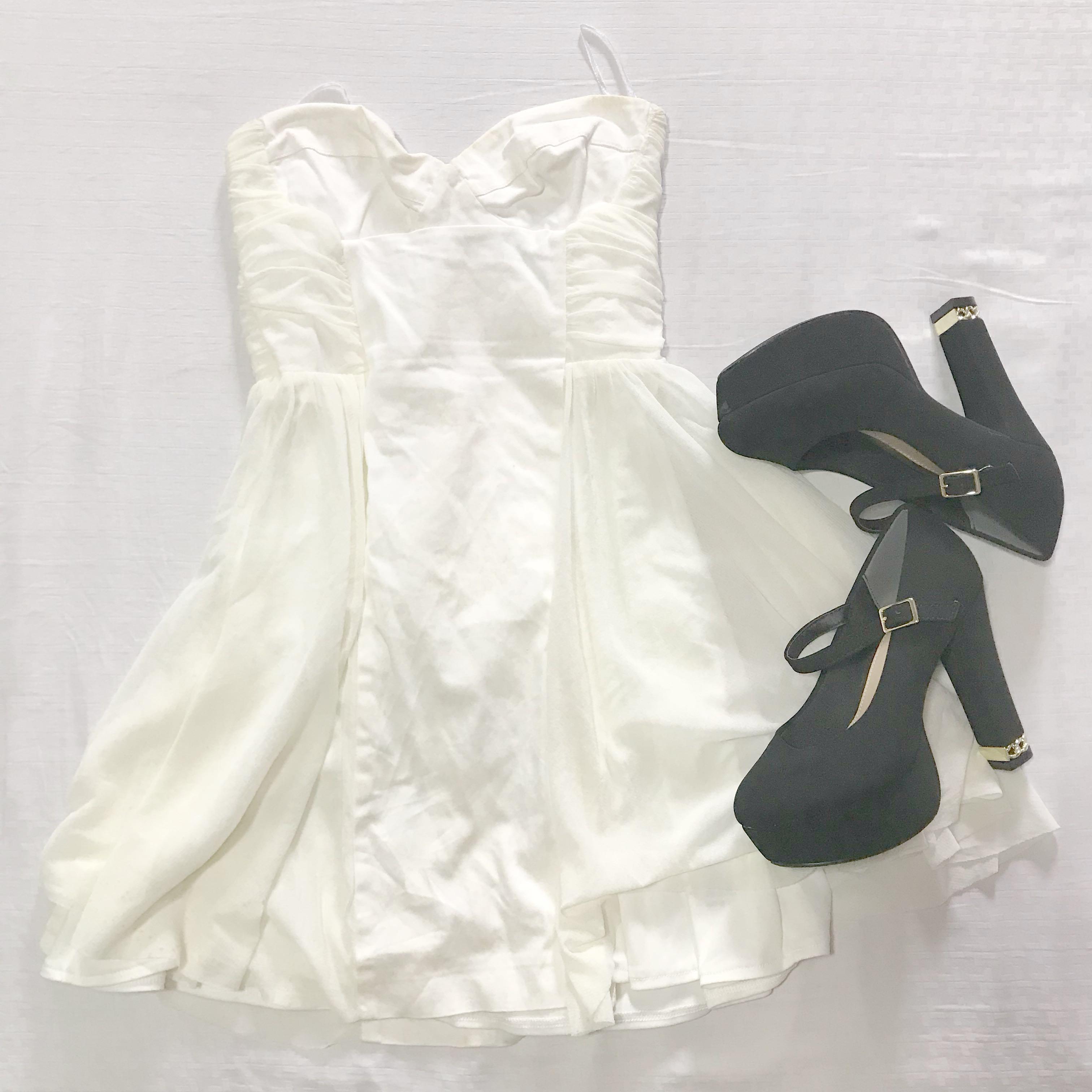 Asos White Prom Fairy Princess Ariana Grande Babydoll Mini Dress