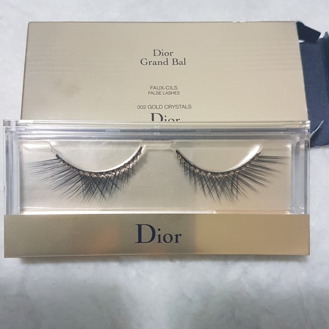 Authentic Christian Dior Gold Crystals With Swarovski False Lashes