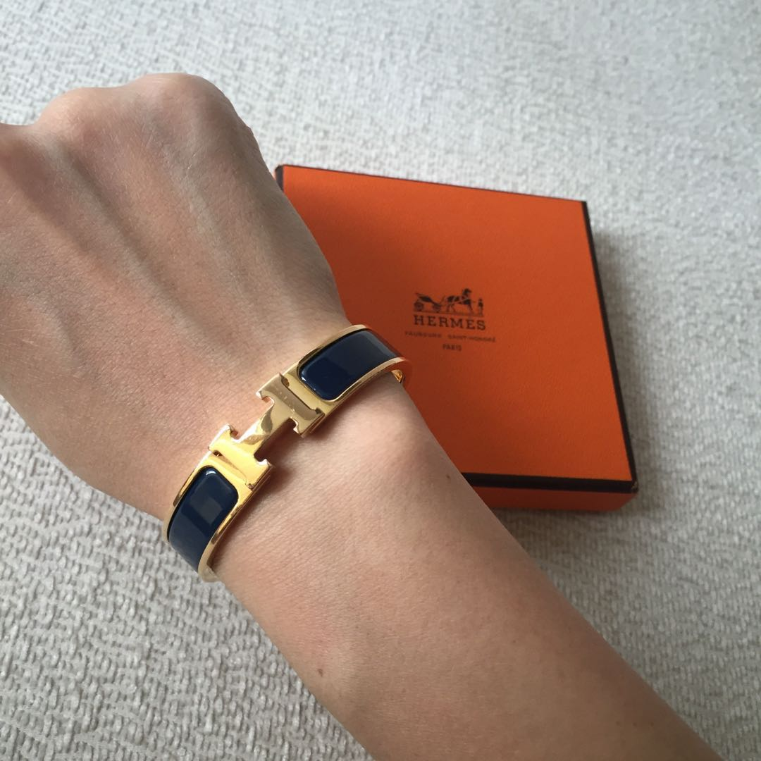 645e5cd1b1f5 AUTHENTIC HERMES Clic Clac H Bracelet PM