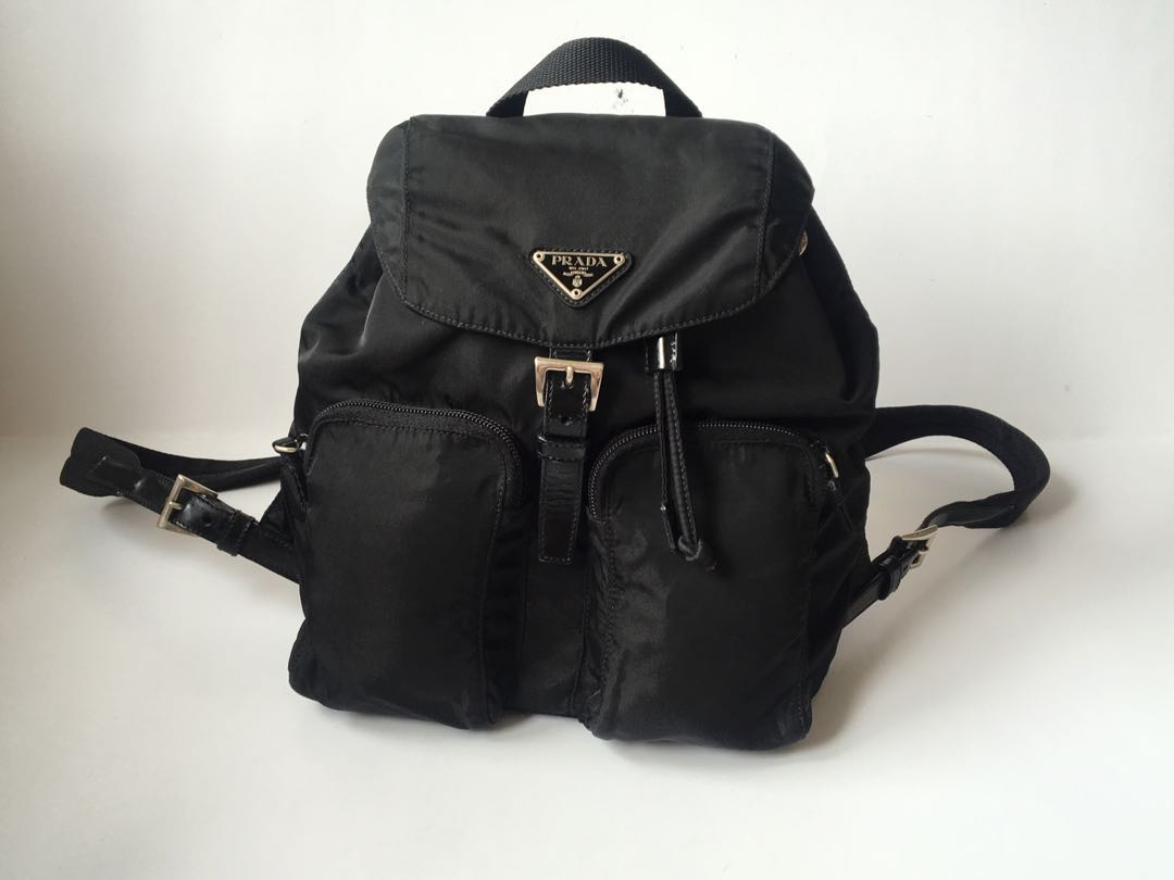 a141f983b28d Authentic Prada Vela Small Backpack Black, Luxury, Bags & Wallets ...