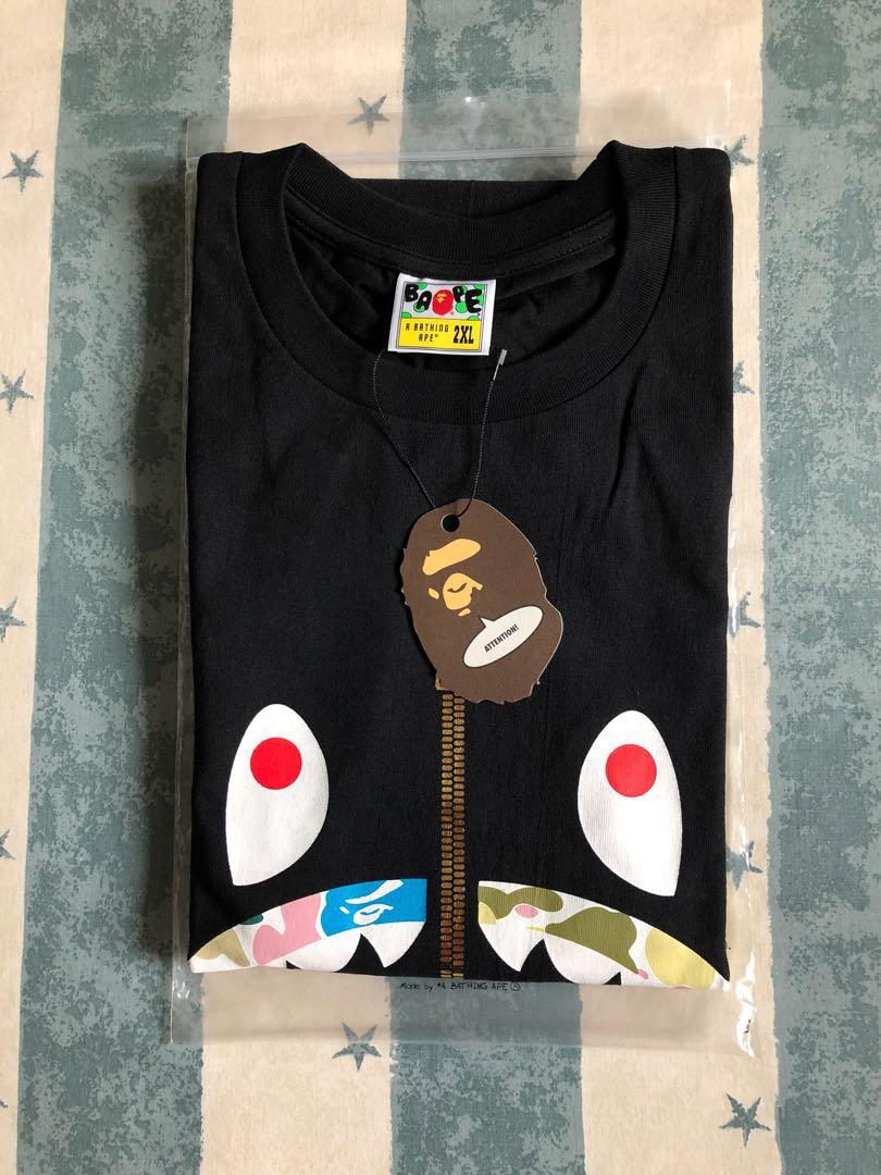 8f04daba17ef Bape Color Camo Shark Tee XXL