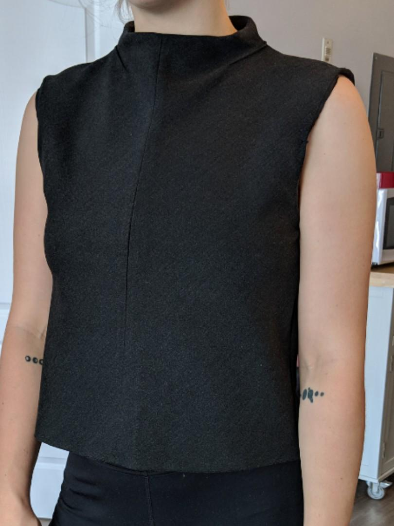 Black high neck shirt (Zara)