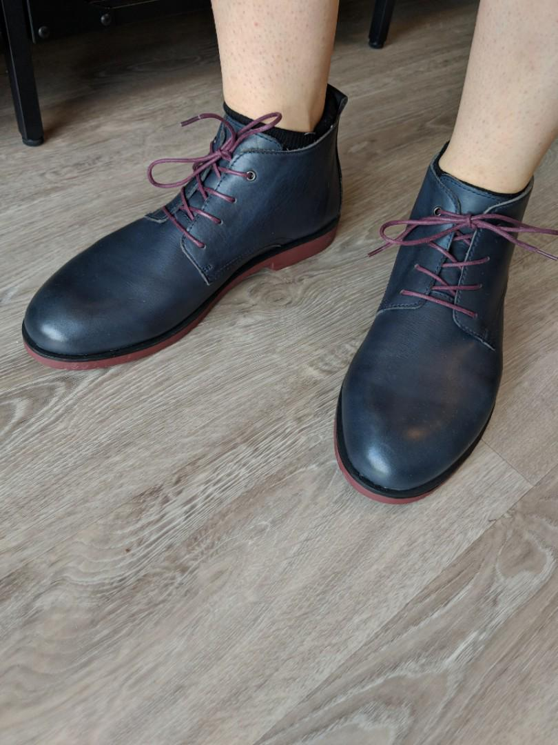 Blue leather dress shoes (Pikolinos)