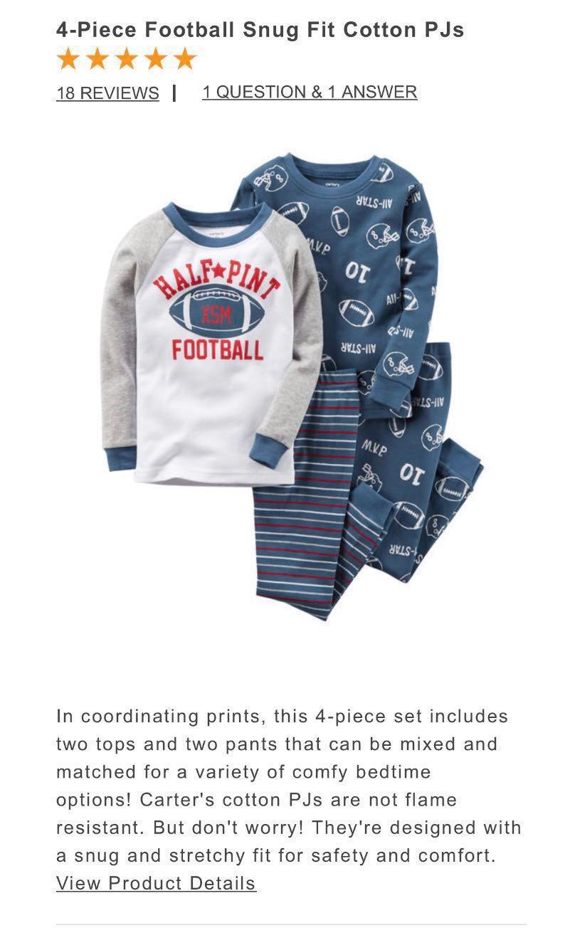29495a0236c0 Carter s 2 Pieces Cotton Pyjamas - 2 sets (Ball)
