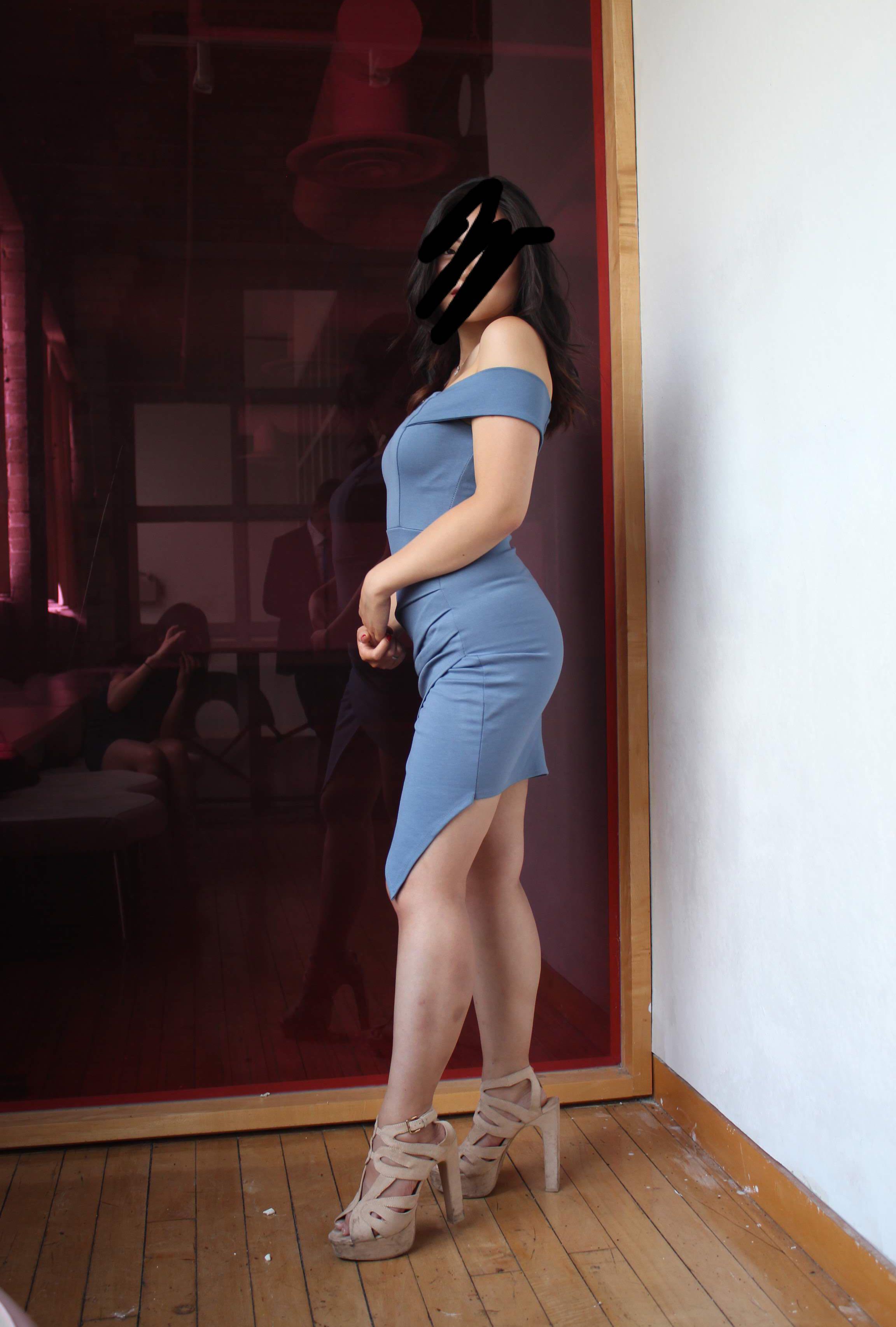 Cutie navy special occasion Asymmetrical  right sexy bodycon dress