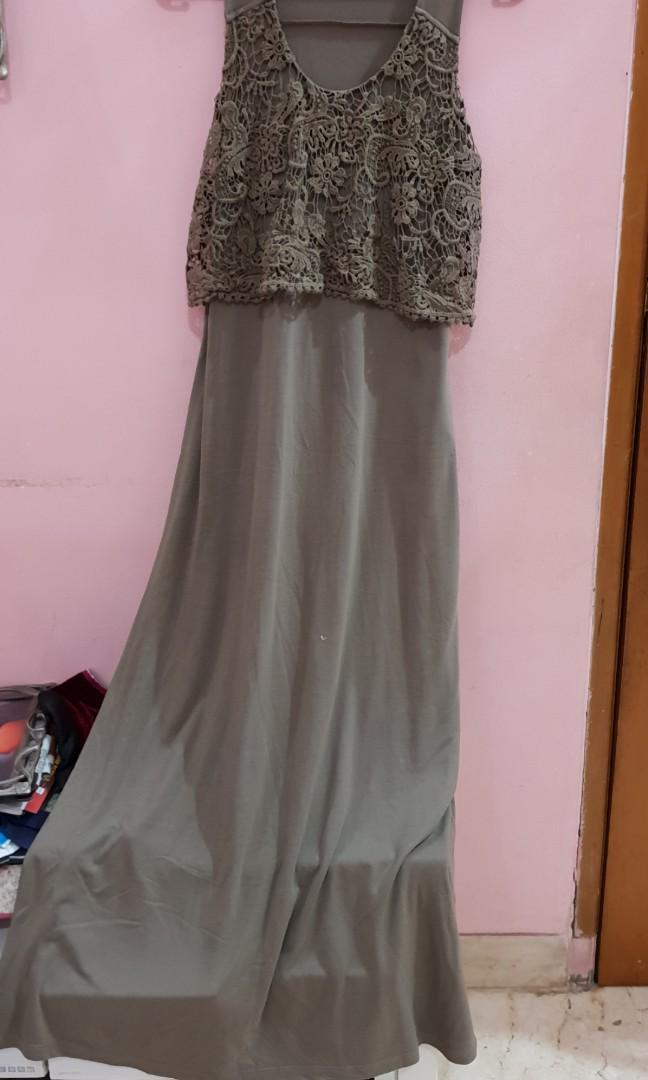 Dress Renda H&M  hijau army
