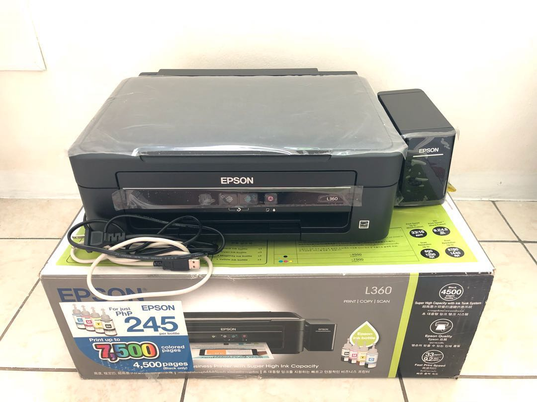 Epson L360 All In One Ink Tank Printer Electronics Others On Carousell L 360