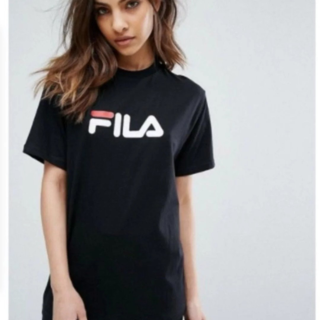 65709c5cd22 Fila Boyfriend Tee, Women s Fashion, Clothes, Tops on Carousell