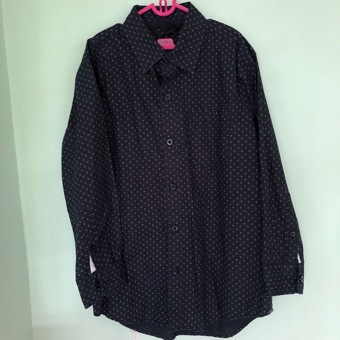 ec05eb18426 👔GAP KIDS👔 Authentic Boys  Long Sleeve Polka Dots Navy Blue Shirt ...