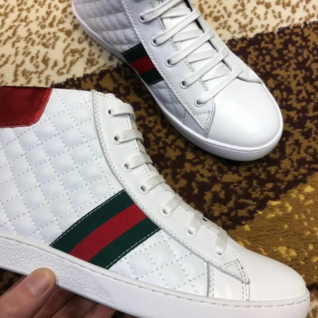 82b1851e7 GUCCI Sneakers (WHITE GRID), Women's Fashion, Shoes on Carousell