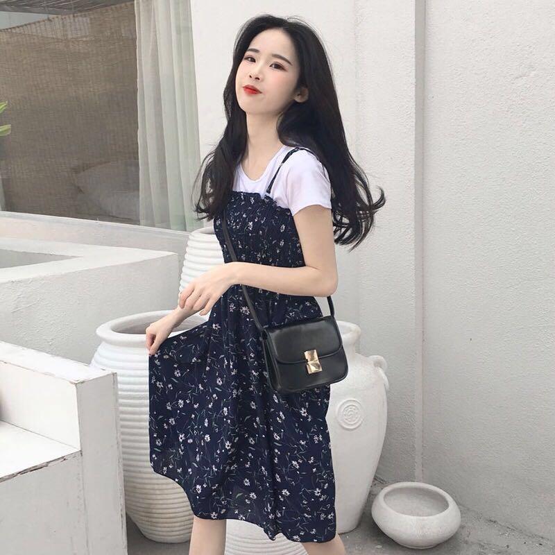d93d53ceb INSTOCK Floral Two Piece Chiffon Strap Dress