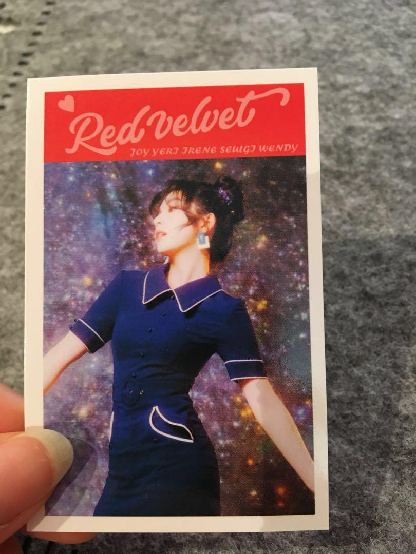 K-wave K-pop Red Velvet Photo Printed Signature  Cards