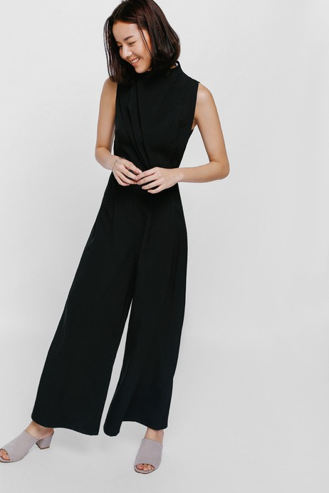7938353f507 Love Bonito - Jollesin Ruched High Neck Jumpsuit