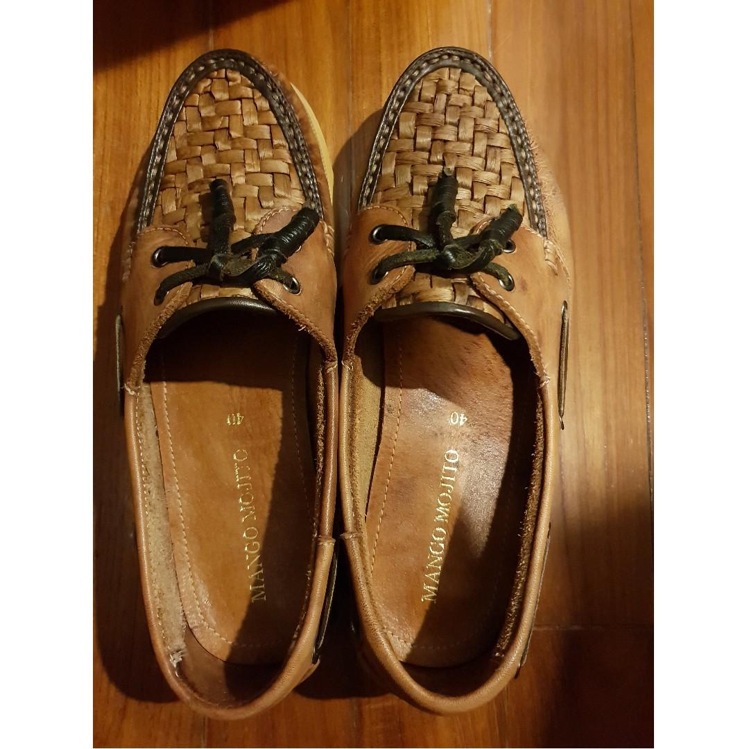 74d289884bc Mango Mojito Boat Shoes - Tan