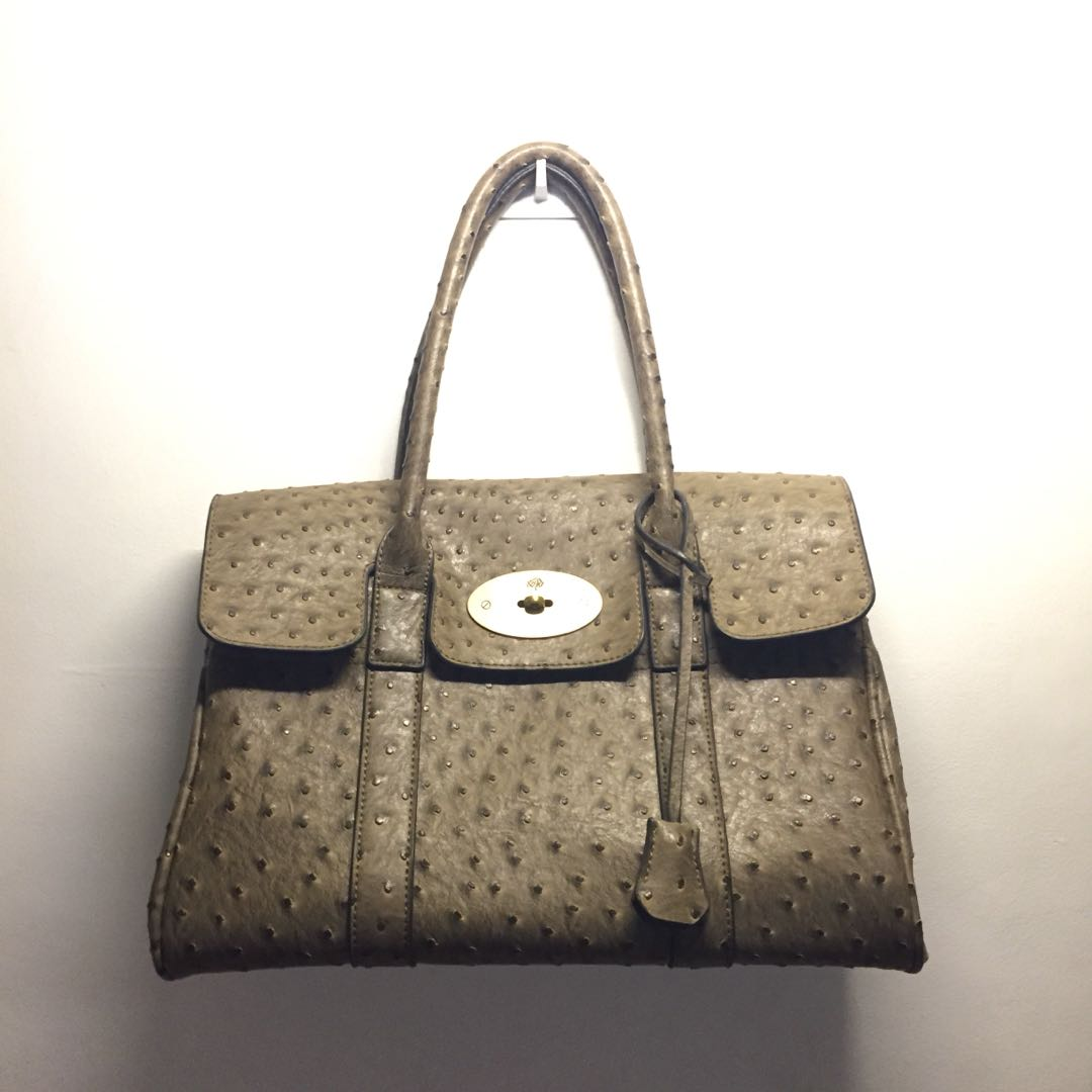 9e442ce57585 ... amazon mulberry ostrich skin bag preloved womens fashion bags wallets  on carousell 73ec3 d409a