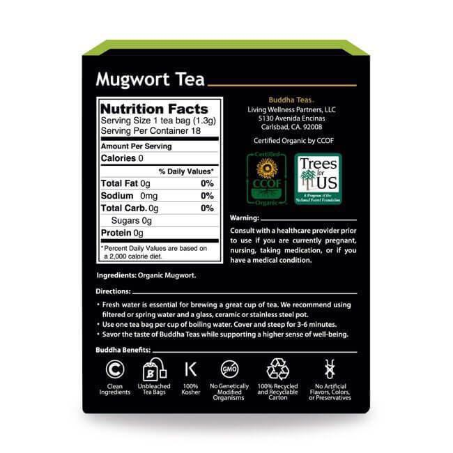 Organic Mugwort Herbal Tea (18 Tea Bags) Buddha Teas