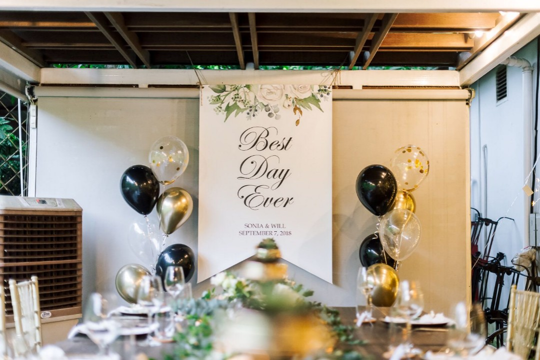 Personalised Smooth Surface Pvc Banner For Wedding Decorations Rom