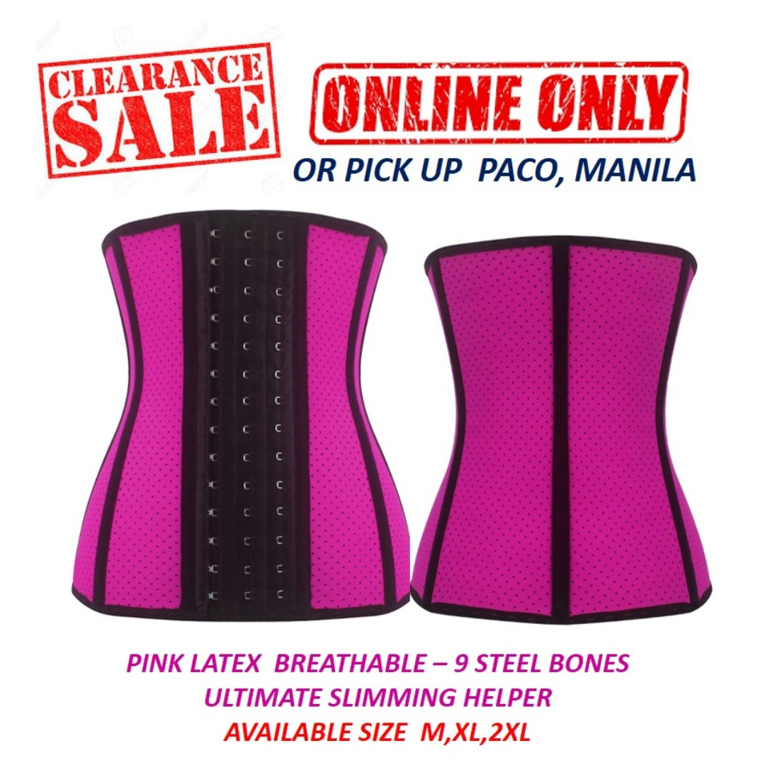 6a6a7f87ca Pink Latex Breathable Waist Trainer - The Ultimate Slimming Helper ...