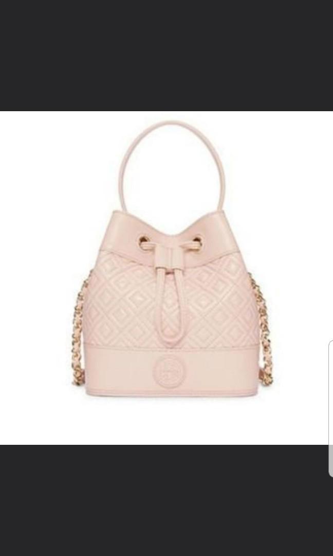 ebf3ee991b7 Authentic Pink Tory burch sling bucket bag