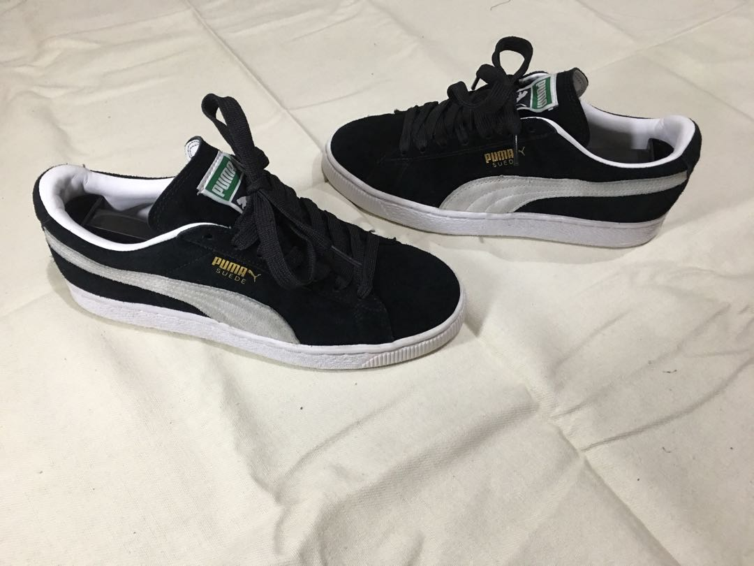 Puma suede classic black and white on Carousell f141b3010