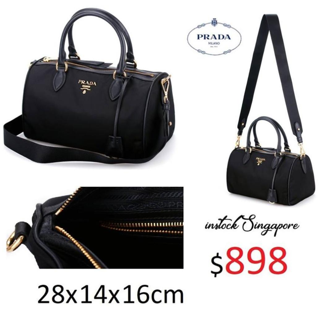 dd77b179318cf4 READY STOCK authentic new Prada Tessuto black nero Nylon satchel bag ...