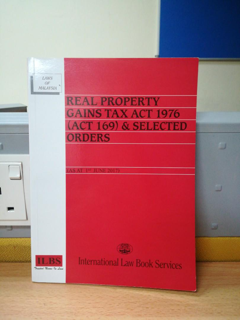 Real Property Gains Tax Act 1976 Textbooks On Carousell