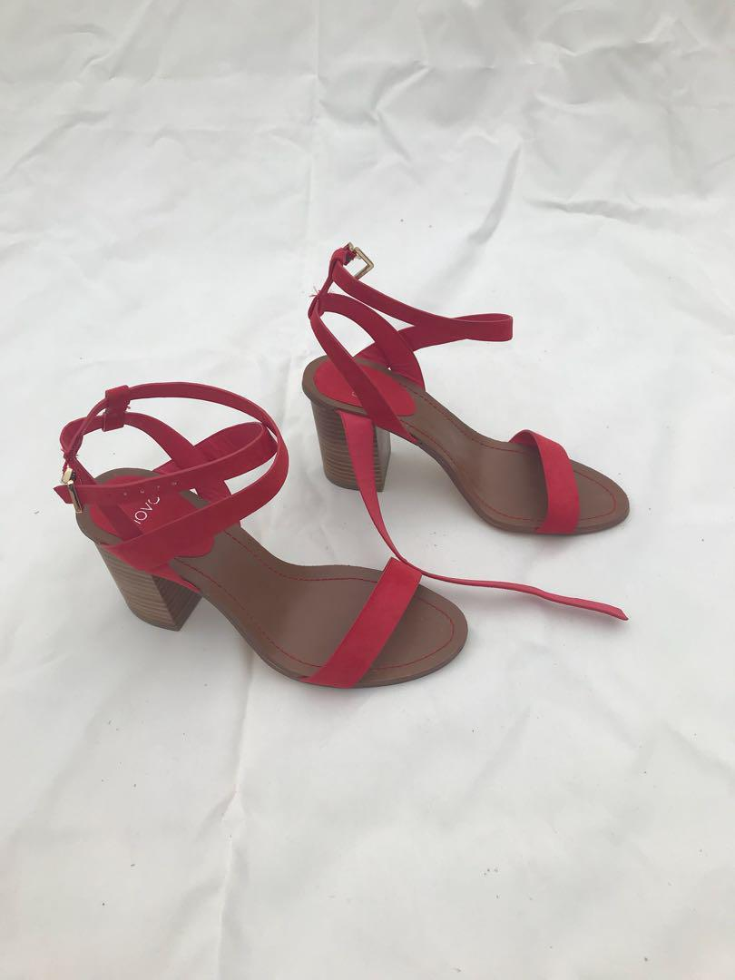 Red Ankle Strap Heels 👠