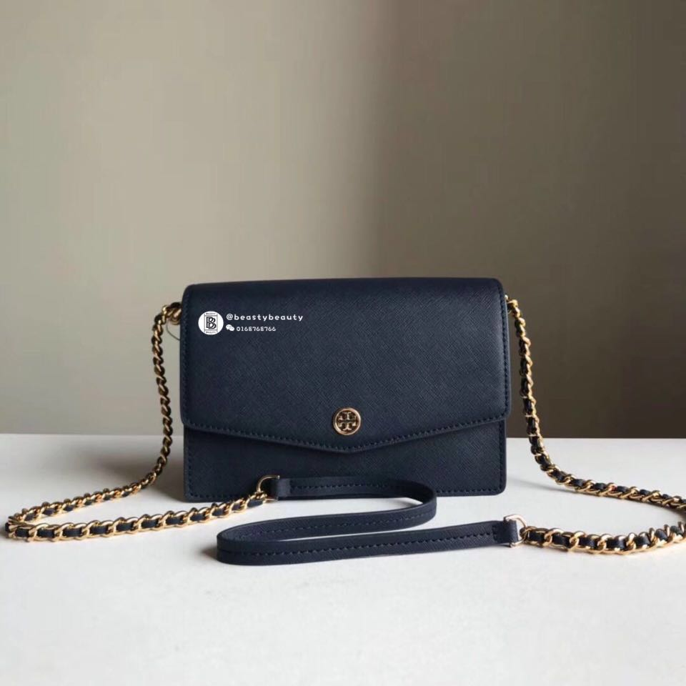 f3ff94cff13 SALES🔥Tory Burch Robinson Convertible Mini Shoulder Bag - navy blue ...
