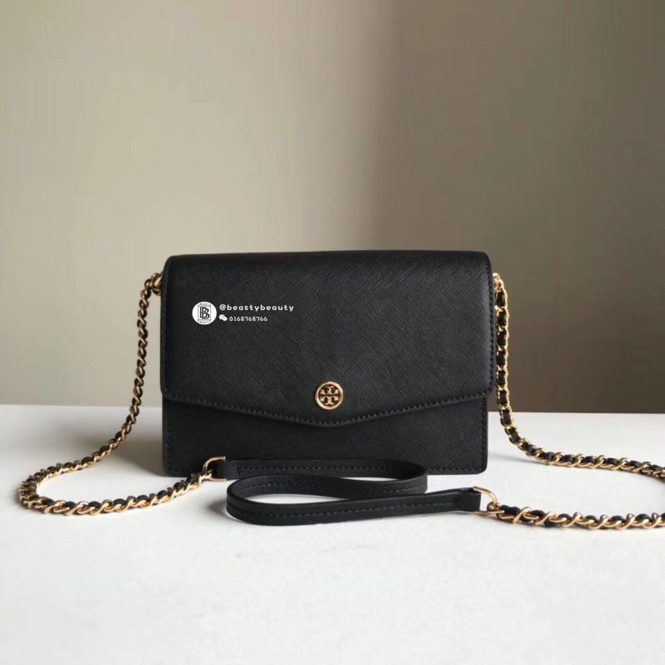 dacc676a7e6 SALES🔥Tory Burch Robinson Convertible Mini Shoulder Bag- Black ...