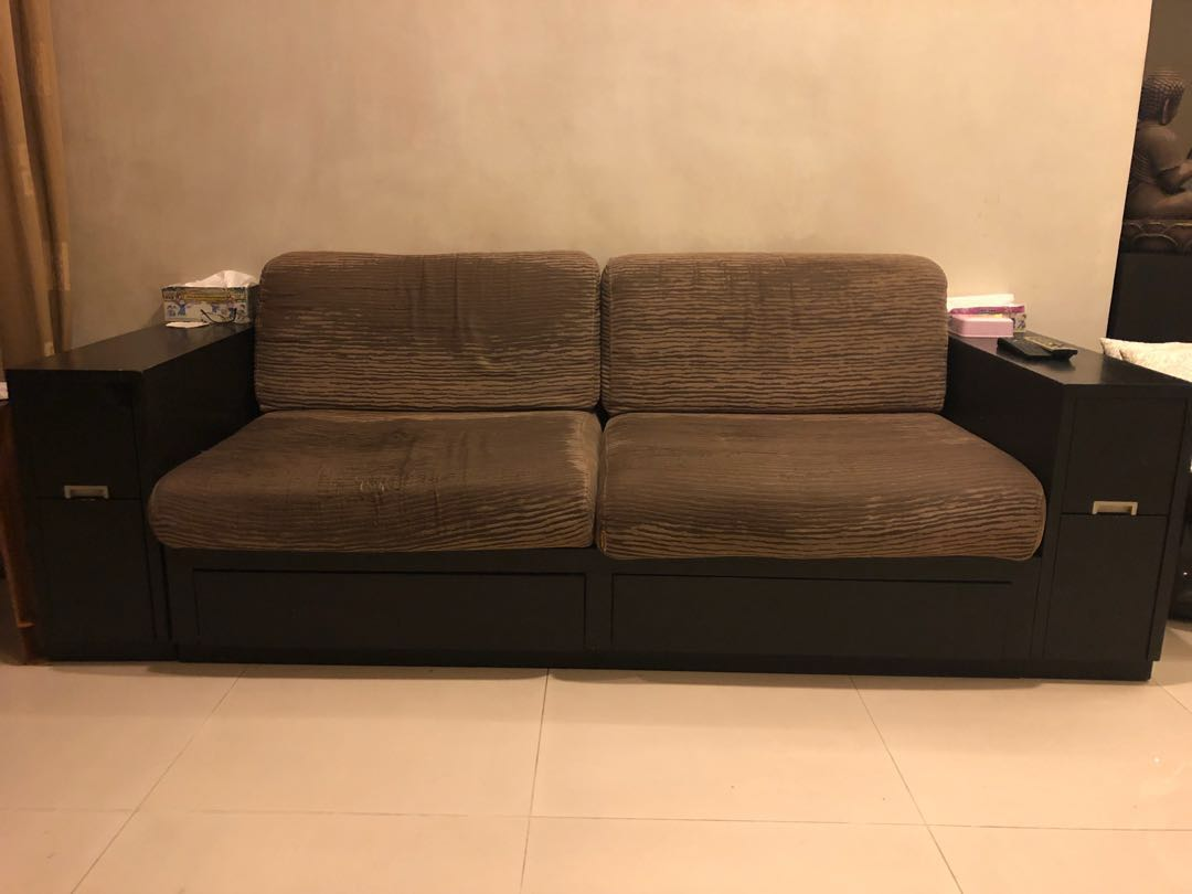 Sofa With Storage Compartments Furniture Sofas On Carousell