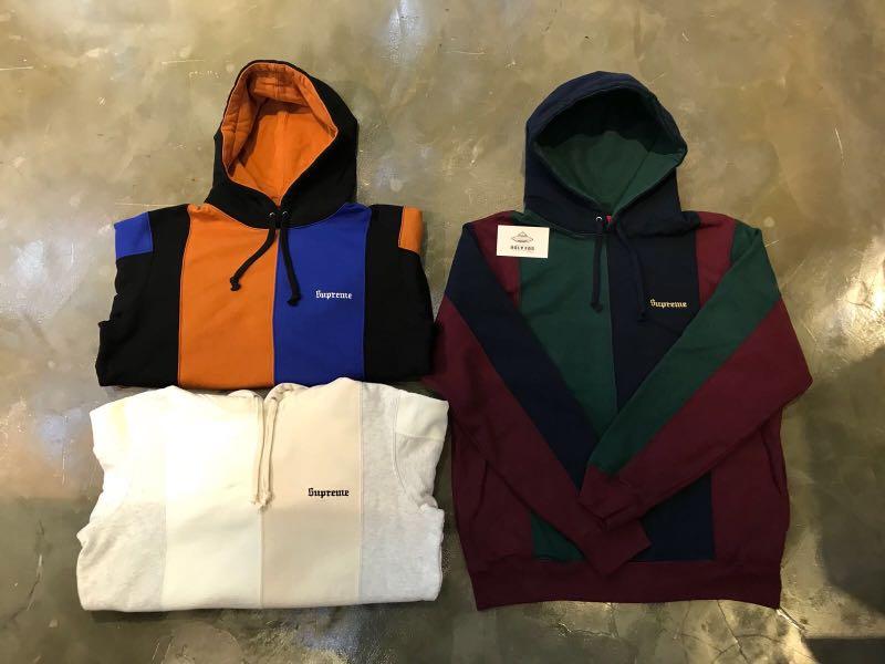 bd4fadde00c Supreme FW18 Week 2 Tricolor Hooded Sweatshirt
